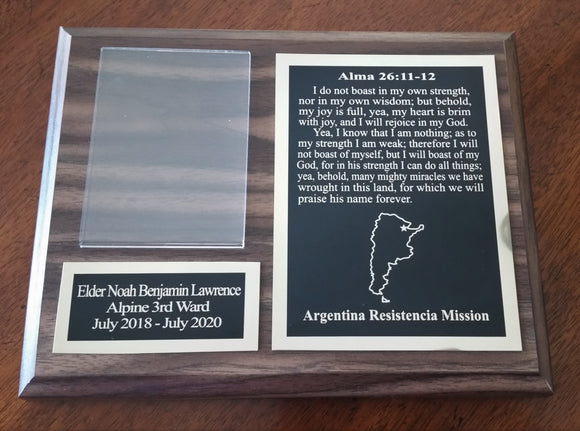 Missionary Plaque Style A (7