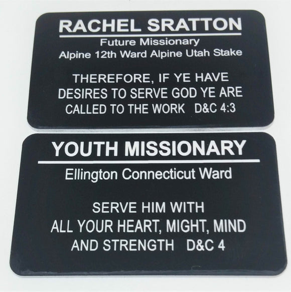 Youth Missionary Name Tag