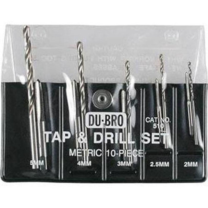 Dubro 510 TAP AND DRILL 10PC METRIC (10908772871)