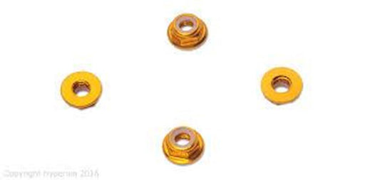 Hyperion HP-NUTLPYL5 5MM FLANGE LOCK NUT SET, YELLOW (LOW PROFILE)