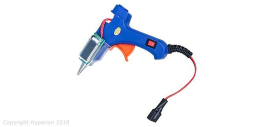 Hyperion HP-GLUEGUN-B Portable Hyperion Mini Hot Glue Gun 14W w/ LCD Info Display (3S LiPo Powered)