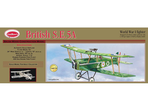 Guillows #202 1/14 British S.E.5a - Balsa Flying Kit (10909459911)