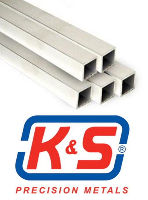 K&S 3015 (83015) SQ ALUM TUBE 1/4X.014 WALL (10910575303)
