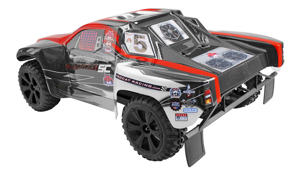 Redcat Racing 07115 1/10 Blackout SC RTR 4WD Short Course Truck (Red)