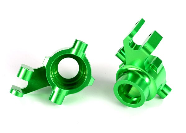 Traxxas 8937G Steering blocks, 6061-T6 aluminum (green-anodized), left & right