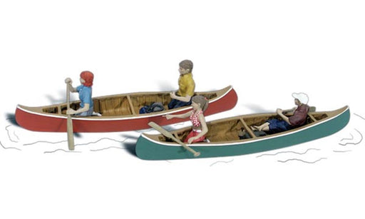 Woodland Scenics A1918 HO Scenic Accents: Canoers