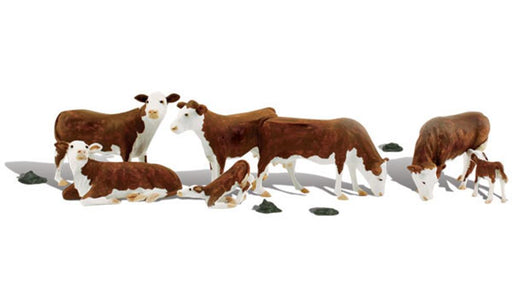 Woodland Scenics A2144 N Scenic Accents: Hereford Cows