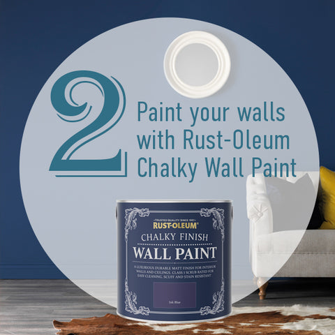 Paint your walls using Rust-oleum Chalky Wall Paint
