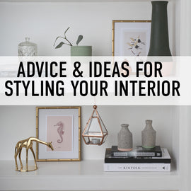 advice and ideas for styling your interior banner