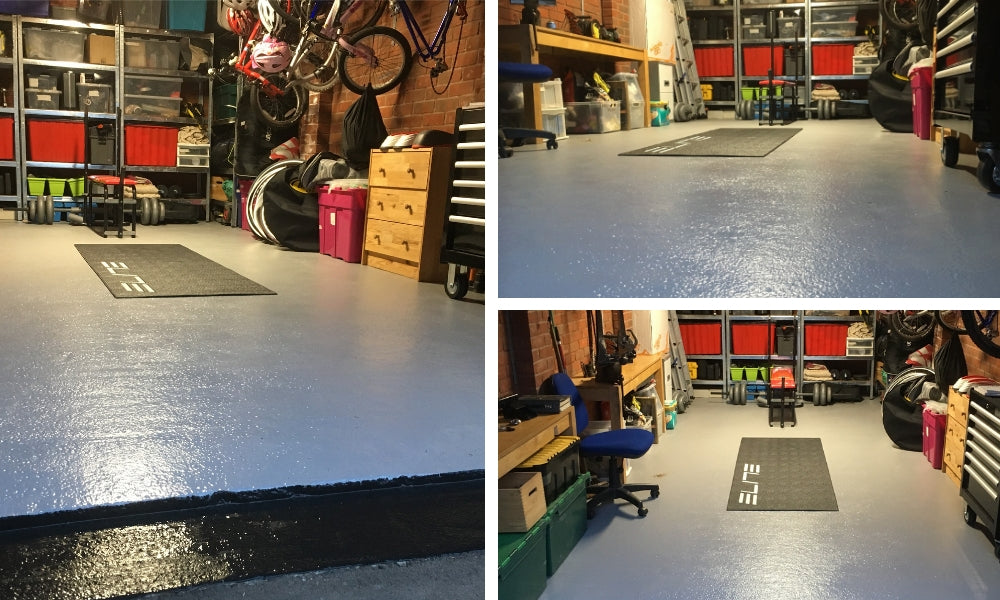 A finished project using PAINTPEOPLE Epoxy Garage Floor Paint