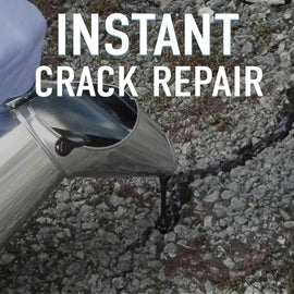 pavement with cracks, linking to instant crack repair product