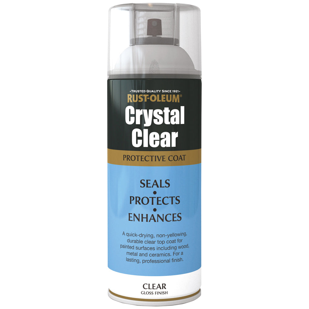 Rust-Oleum Crystal Clear Spray Paint 400ml