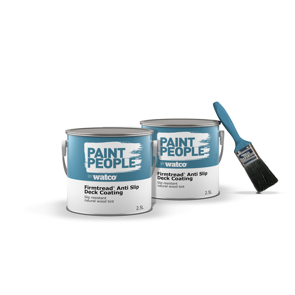 Firmtread Anti Slip Deck Coating, 2 tins with a paint brush