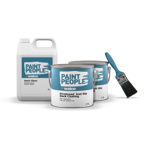Firmtread Anti Slip Decking Paint and Cleaner Kit