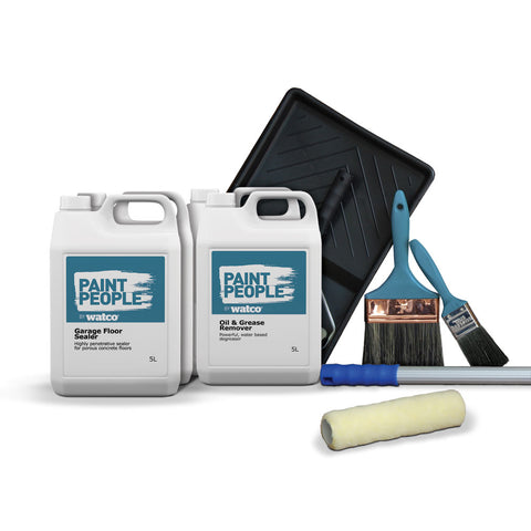 Garage Floor Seal Kit - For greasy, oily, bare garage floors