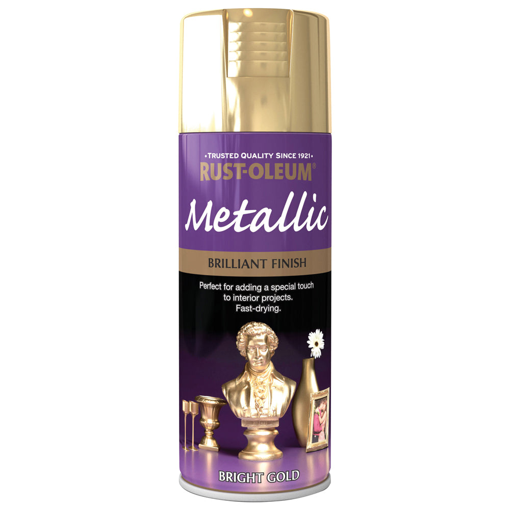 Rust-Oleum Brilliant Metallic Spray Paint 400ml