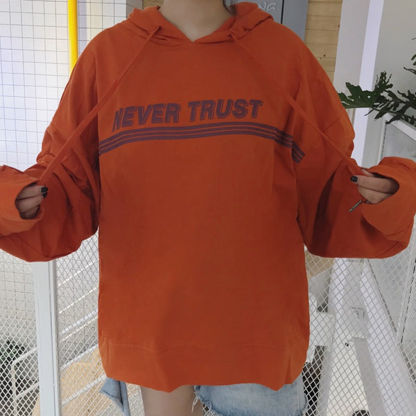 Trust Issues Hoodie Orange / One Size