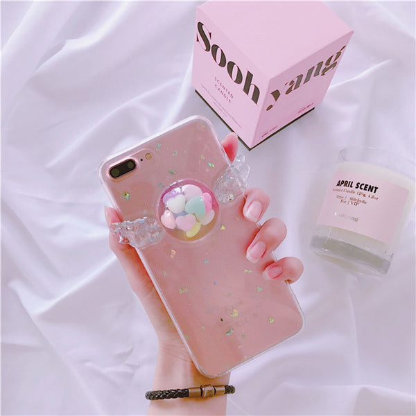 3D Wing Case For Iphone Hearts / Ip66S Phone