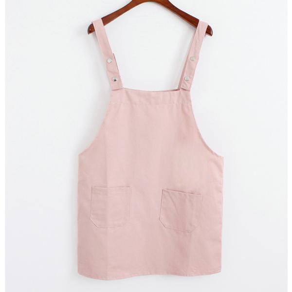 Basic Overall Dress Blush / One Size