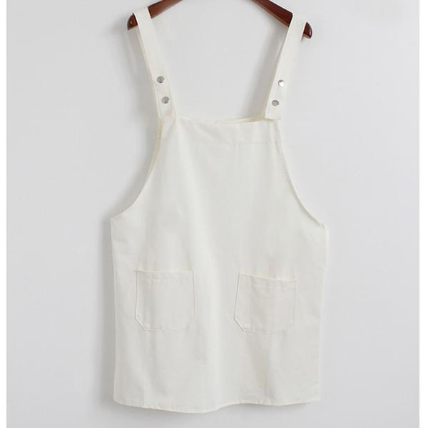 Basic Overall Dress White / One Size