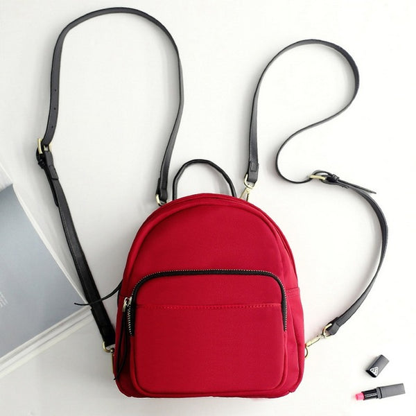 Simple Mini Backpack Red