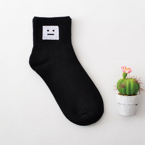 Embroidered Crew Socks 01 / Eu 34 To 39