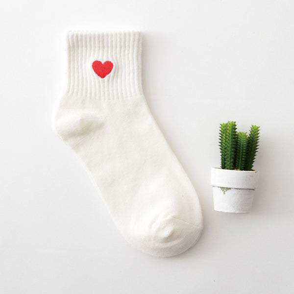 Embroidered Crew Socks 03 / Eu 34 To 39