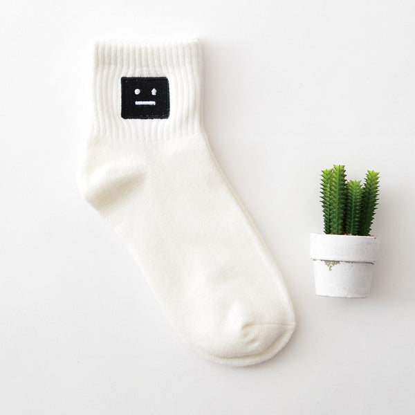 Embroidered Crew Socks 06 / Eu 34 To 39