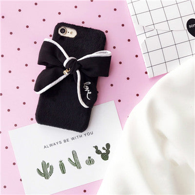 Bowknot Case For Iphone Black / I7Plus Phone