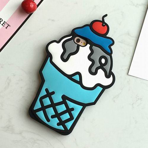 Ice Cream Case For Iphone Blue / For 5 5S Se Phone