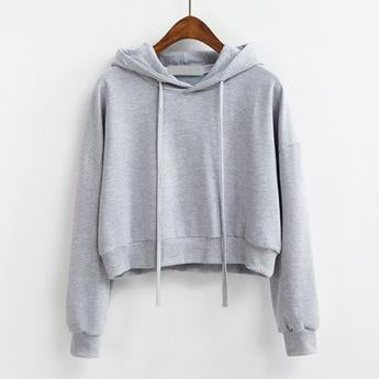 Short Pullover Hoodie Gray / One Size