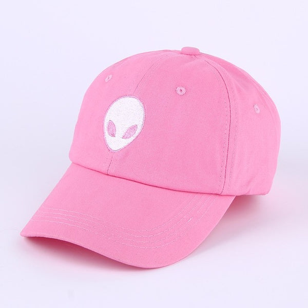 Embroidered Alien Dad Cap Pink