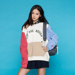 Macaron Hoodies Female 2017 New Women Pullover Sweatshirts Big Pocket Long-sleeved Letters Printed Korean Fashion - The Toasted Coconut
