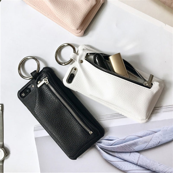 Faux Leather Wallet Case For Iphone Phone