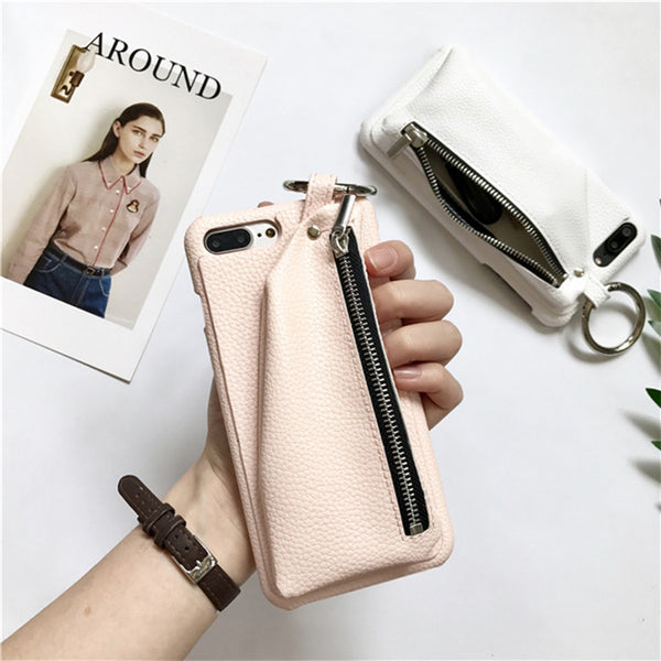 Faux Leather Wallet Case For Iphone Blush Pink / I7Plus Phone
