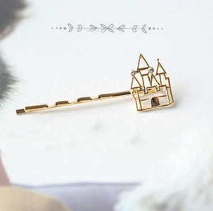 Princess Bobby Pin Castle Hair Accessory