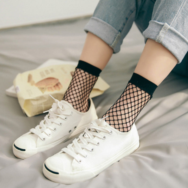 Black Mesh Socks