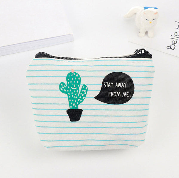 Cactus Print Coin Purse Style 1