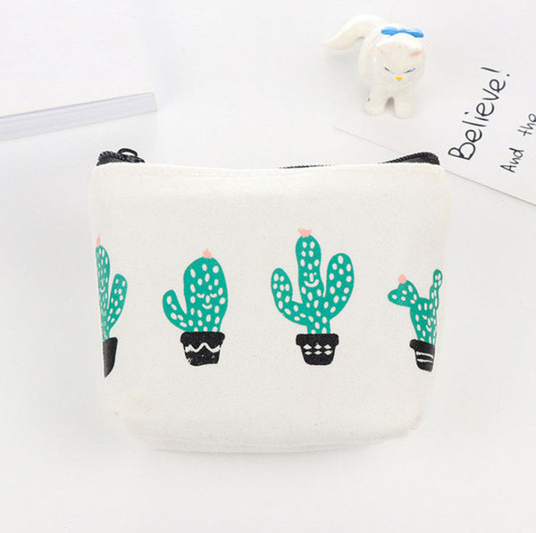Cactus Print Coin Purse Style 3