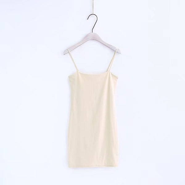 Basic Bodycon Dress Beige / S