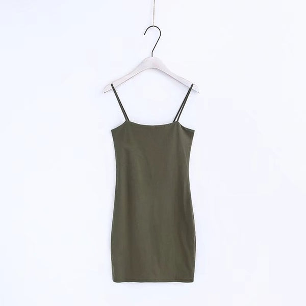 Basic Bodycon Dress Army Green / S