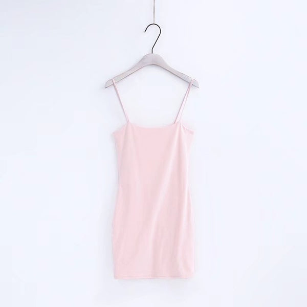 Basic Bodycon Dress Pink / S