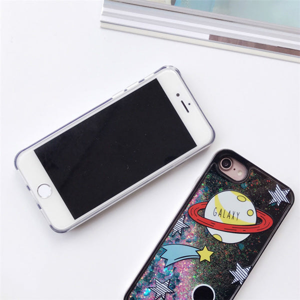 Cartoon Liquid Case For Iphone Phone