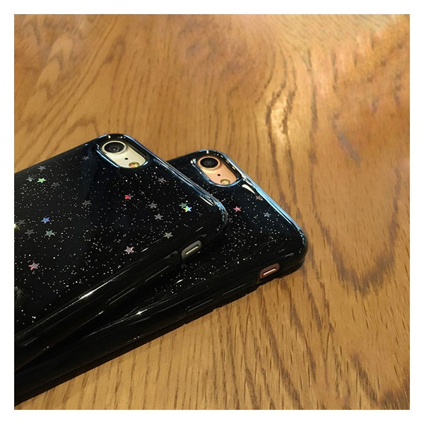 Black Glitter Case For Iphone Phone