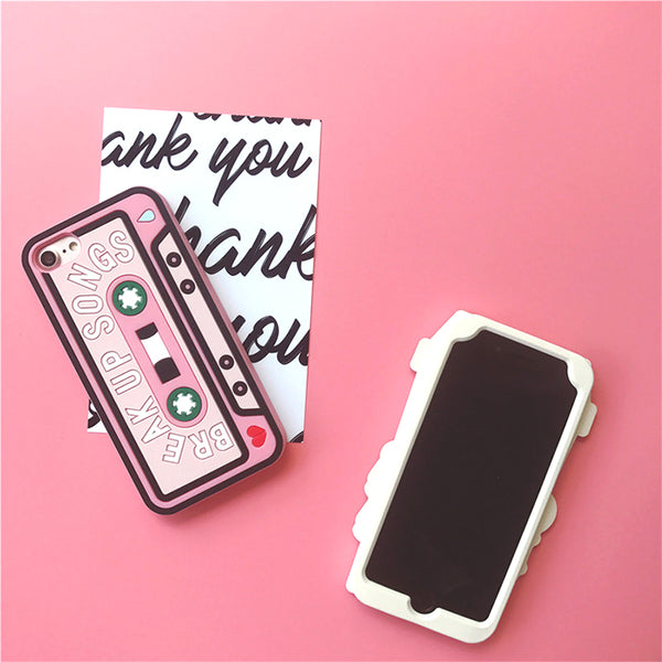 Coffee & Mix Tape Case For Iphone Phone