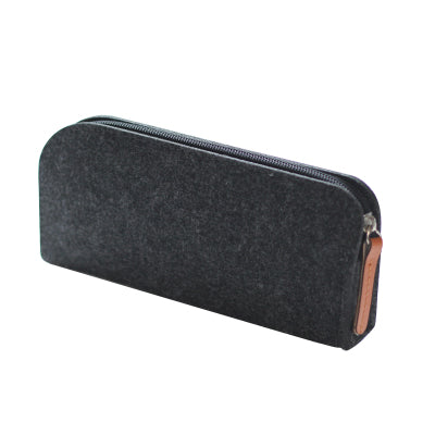 Felt Pencil Case Black Rectangle