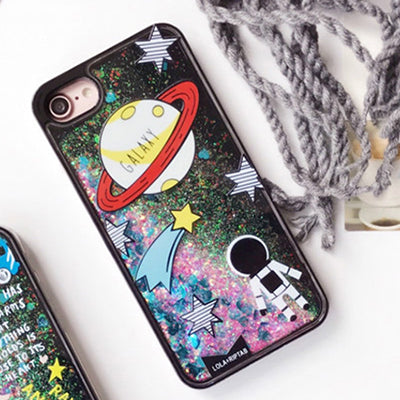Cartoon Liquid Case For Iphone Astronaut / I7Plus Phone
