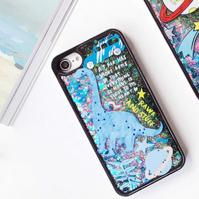 Cartoon Liquid Case For Iphone Dinosaur / I7Plus Phone