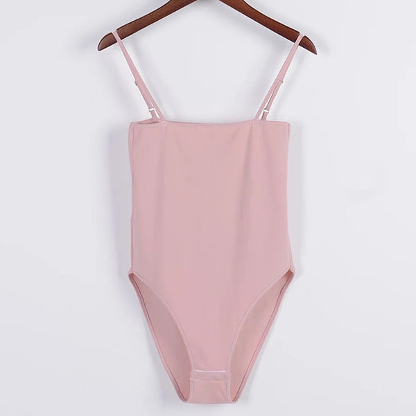 Basic Tube Bodysuit Pink / S