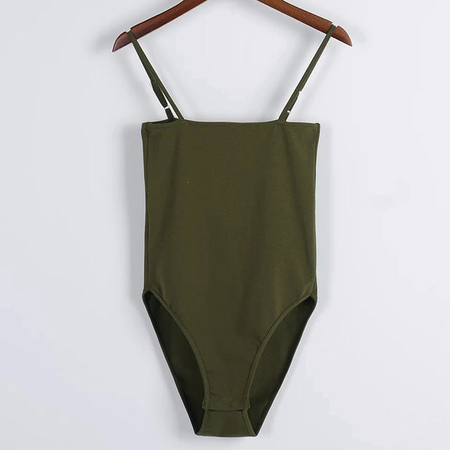 Basic Tube Bodysuit Army Green / S